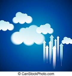 Cloud Computing Business Konzept.