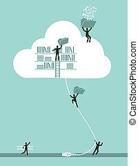 Cloud Computing Business Konzept