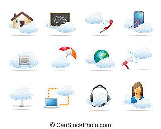 Cloud Computing Concept Icon.