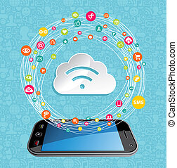 Cloud Computing Network-Konzept