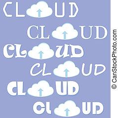 Cloud Computing Vektorset.