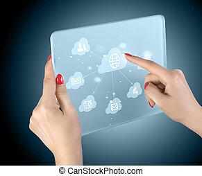 Cloud komprimiert Touchscreen Interface