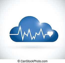 Cloud Lifeline Illustration Design.