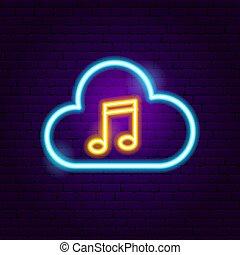 Cloud Musik Neonzeichen