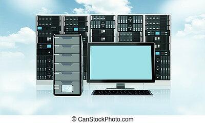 Cloud-Server-Konzept