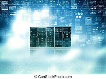 Cloud Server Konzept.
