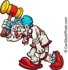clown, zombie