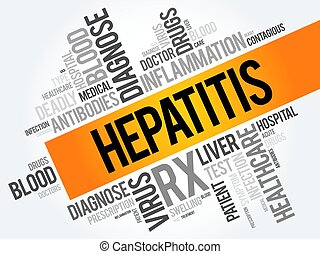 collage, wort, hepatitis, wolke