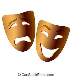 Comedy und Tragische Masken