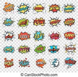 Comic-Rede Blasen oder Sound-Repliken