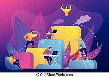 Corporate Leiter Konzept Vektorgrafik.