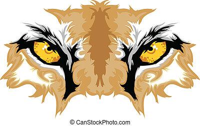 Cougar-Augen maskottisch