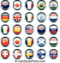 Country-Flagge-Ikonen