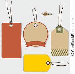 coupon, stil, weinlese, preis, verkauf, voucher., design, schablone, v, etikett