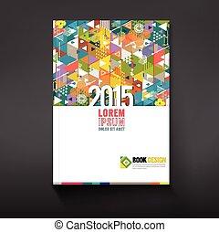 Cover-Dreieckgeometrie für Corporate Business Design Hintergrund, Vektorgrafik.