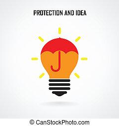 Creative Brain Idea Konzept Hintergrund Design