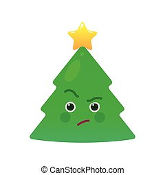 Critical Christmasmas Baum isoliert Emoticon