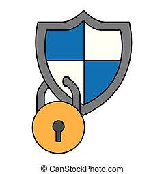 Cyber Security digital.