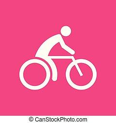 Cycling Sports Figur Symbol Vektorgrafik.
