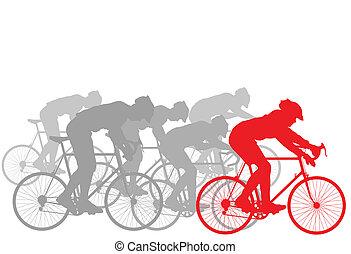 Cyclist Leader Gewinner Hintergrund.