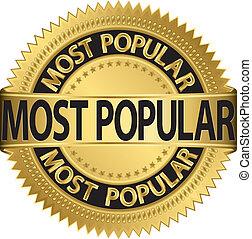Das beliebteste goldene Label, Vektor I