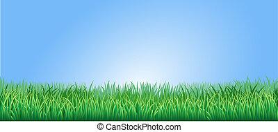 Das grüne Gras illustriert