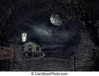 Das Haus mit Geier wartet.