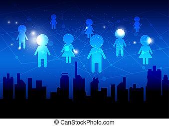 Das Konzept des sozialen Mediennetzes