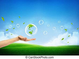 Das Konzept einer neuen grünen Erde