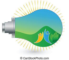 Das Logo für erneuerbare Energien