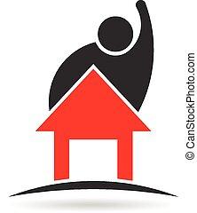 Das Logo von Mann und Haus.