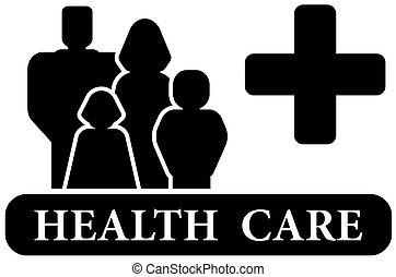 Das schwarze Icon der Gesundheitsbehörde.