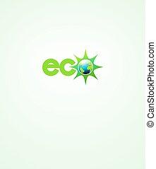 Das Symbol der Ökoenergiewelt.