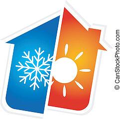 Das Symbol der Klimaanlage.
