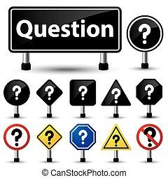 Das Symbol für die Fragezeichen.