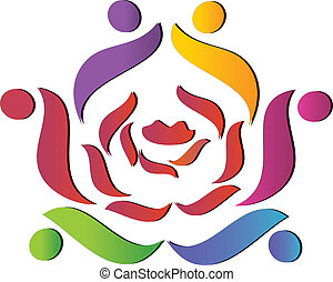 Das Team hilft Rose Logo