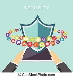 Datensicherheit. Antivirus. Datenschutz.
