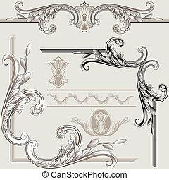 dekor, elemente, klassisch