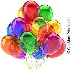 dekoration, party, geburstag, luftballone