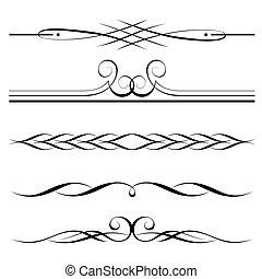 Dekorationselemente, Grenz- und Seiteregeln