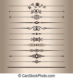 Dekorationslinien