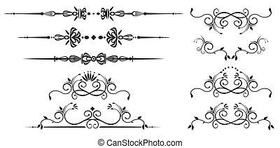 Dekorationswirbelelemente