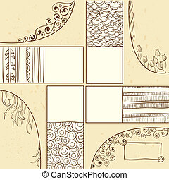 Dekorativer Hintergrund mit Raum für Text