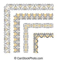 dekorativer rand, seamless