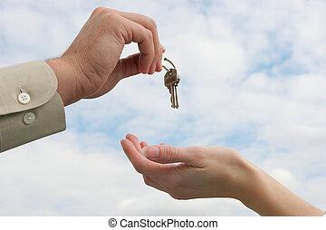 Den Schlüssel übergeben