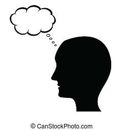 Denkender Mann