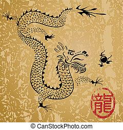 Der alte chinesische Drache