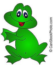 Der fröhliche Frosch.
