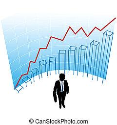 Der Geschäftsmann graph-grafische Erfolgskonzept