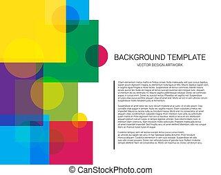 Der Kreis der abstrakten geometrischen Muster und Hintergrund. Minimales Design.